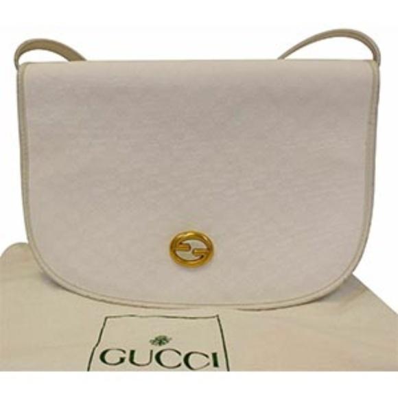 0f8ebfc91000ca Gucci Bags | Supreme White Flap Crossbody Bag Vintage | Poshmark